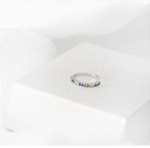 piercing de pressão ondulado colors prata