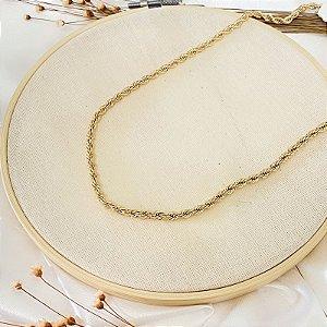 colar cordão baiano dourado