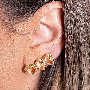 Ear Cuff Mini Gotas Pêssego Dourado