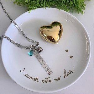 Colar Cartier Gratidão Verde Turmalina Prata