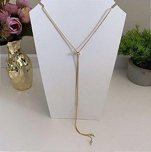 Colar Gravatinha Dourado