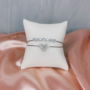 Bracelete Amor Cristal Prata