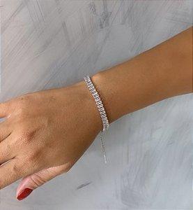 Pulseira Elegancy Zircônia Cristal Prata