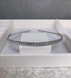 Tiara Elegancy Zircônia Cristal Prata