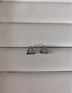 Brinco Triângulo Prata