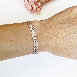Pulseira ramos ajustável prata