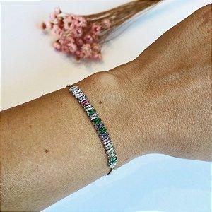pulseira elegancy ajustável prata