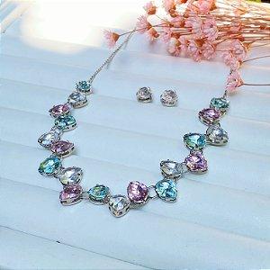 conjunto de luxo belissima zirconias candy prata