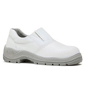 Sapato Elástico MICROFIBRA Branco Fibratec Bico PVC