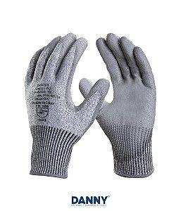 Luva de segurança tricotada em polietileno de alta densidade PU DA45400PU