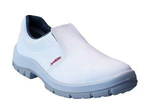 Sapato  Elástico MICROFIBRA Branca Kadesh c/ Biqueira de PVC
