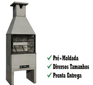 Churrasqueira Pré-Moldada Natural 64cm Refracon