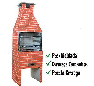 Churrasqueira Pré-moldada Natural Tijolinho Pintada 65cm CK