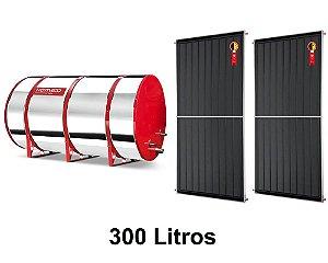Boiler Solar 300l Baixa Pressão c/ 2 Placas 2,00 x 1,00 komeco