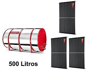 Boiler Solar 500l Baixa Pressão c/ 3 Placas 2,00 x 1,00 komeco