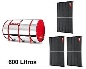 Boiler Solar 600l Alta Pressão c/ 3 Placas 2,00 x 1,00 komeco