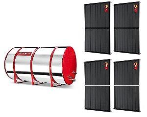 Boiler Solar 800l Alta Pressão c/ 4 Placas 2,00 x 1,00 komeco