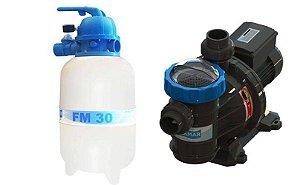 Conjunto Filtrante Bomba 1/4cv Filtro FM 30 Sodramar