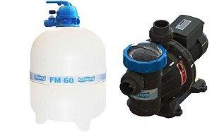Conjunto Filtrante Bomba 1cv Filtro FM 60 Sodramar