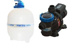 Conjunto Filtrante Bomba BMC 150 Filtro FM 75 Sodramar