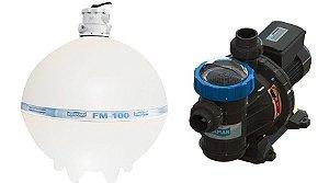 Conjunto Filtrante Bomba BMC 200 Filtro FM 100 Sodramar