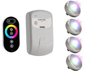 Kit Iluminação 4 Leds Colorido RGB para Piscina Tholz