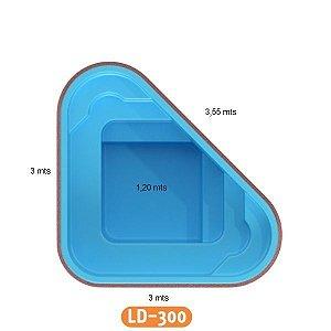 Piscina de Fibra Triangular Cobertura LD-300 Líder