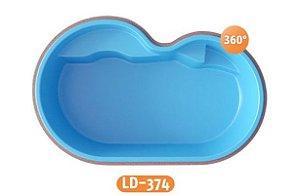 Piscina de Fibra Cobertura LD-374 Líder