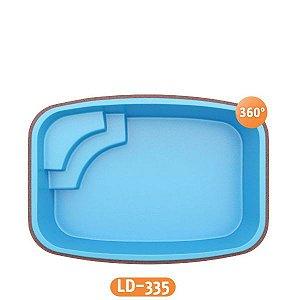 Piscina de Fibra Cobertura LD-335 Líder