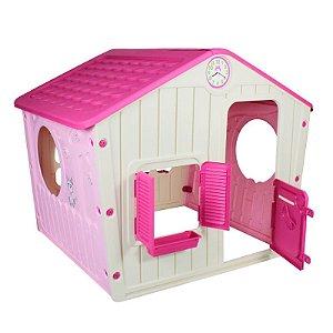 Casinha de Brinquedo Pink Bel Fix