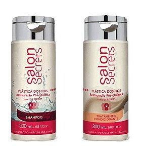 Kit Salon Secrets Plastica dos fios Shampoo e Condicionador