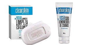Kit Clearskin remoção de cravos Sabonete  Mascara removedora