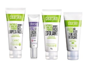 Kit Clearskin Gel Secativo-Limpeza-Esfoliante e Matificante