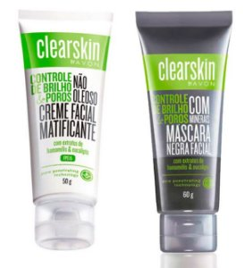 Kit Clearskin Mascara Negra e creme facial Matificante FPS15