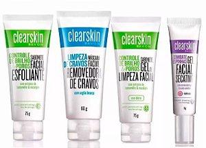Kit C/ 04 Produtos  Linha ClearSkin Anti Acne e Cravos