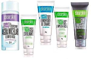 Kit Avon Clearskin 5 Itens Com Água Micelar - Anti Acne