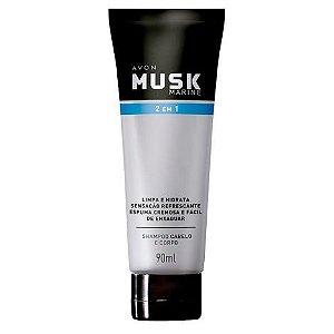Shampoo Cabelo e Corpo Musk Marine - 90 ml
