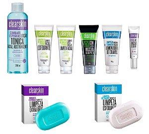 Kit Clearskin Limpeza De Pele 8 Itens Tratamento Anti-acne