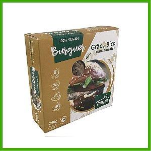 Hambúrguer Vegano de Grão de bico com sementes - Tensei
