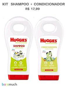 Kit shampoo e condicionador Huggies