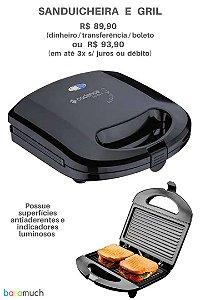 Sanduicheira e Grill Cor Preto