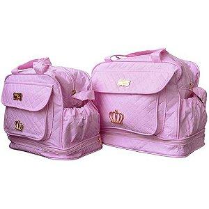 b3c57a632 Kit 2 Bolsas Maternidade Rosa - Menina
