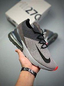 Tênis Nike Air Max 270 Cinza e Laranja