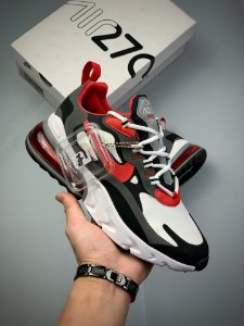 Tênis Nike Air Max 270 REACT - Preto, Branco, Vermelho