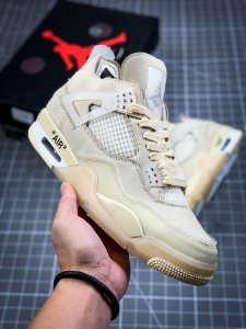 Tênis Jordan 4 Retro Off-White Sail