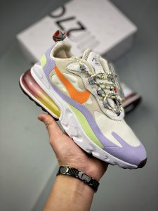 "Tênis Nike Wmns Air Max 270 React ""White/Light Blue"""
