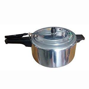 Panela De Pressão Grande Em Alumínio Polido 15 Litros Com Duas válvulas de segurança