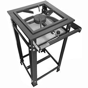 Fogão Industrial 1 Boca Alta Pressão com Queimador Ferro Fundido