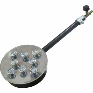 Queimador em Inox com 8 Caulins e Registro de Alta Pressão
