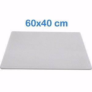 Tabua de Corte 60 x 40cm em Polietileno Branco